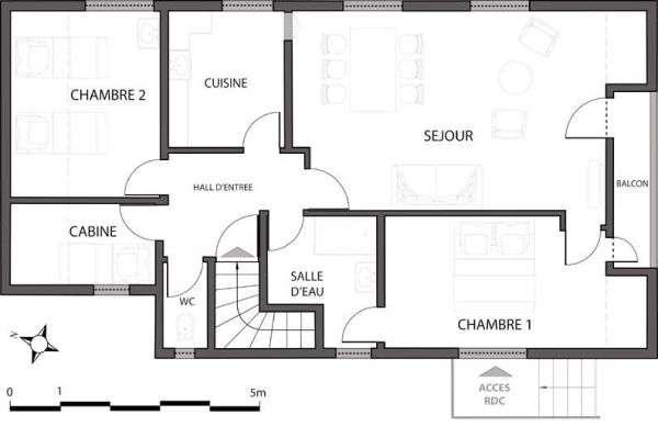 location 6 personnes les contamines montjoie les trolles appartement 3 pi ces cabine 66 m. Black Bedroom Furniture Sets. Home Design Ideas